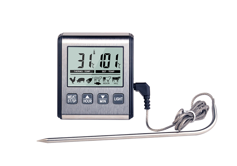 15424# 计时温度报警双模式电子烤肉温度计