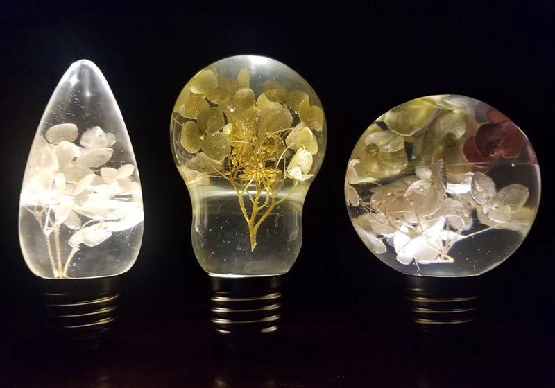 17037# DIY滴胶环氧树脂胶模具-手工制作创意氛围灯泡摆台饰品发光硅胶灯泡